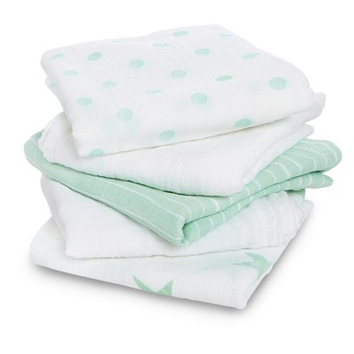 Aden® by Aden + Anais® Muslin Squares Baby Blankets - Dream - 5pk - Teal