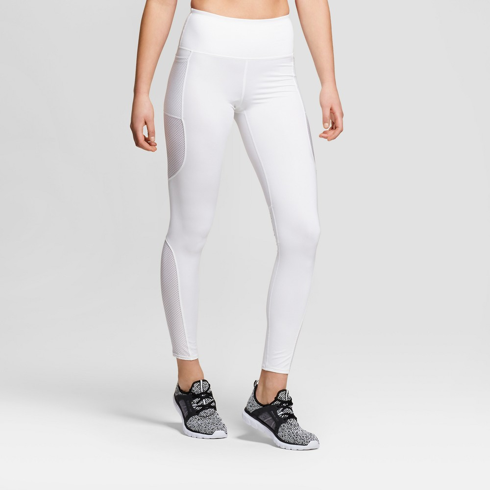 Women's Performance High Rise Laser Cut Mesh Leggings Joylab White M