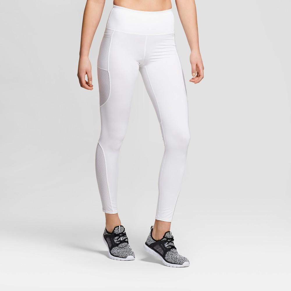 Women's Performance High Rise Laser Cut Mesh Leggings Joylab White Xxl