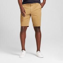 """Men's 10.5"""" Linden Flat Front Shorts - Goodfellow & Co™ Khaki"""