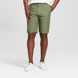 """Men's 10.5"""" Textured Linden Flat Front Shorts - Goodfellow & Co™ Orchid Leaf"""