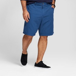 """Men's Big & Tall 10.5"""" Patterned Linden Flat Front Shorts - Goodfellow & Co™ Blue Dobby"""