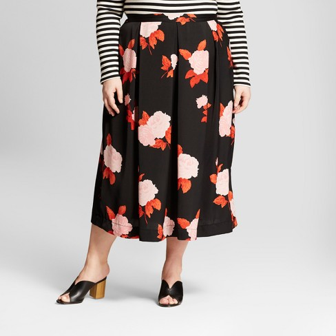 Women's Plus Size Birdcage Midi Skirt - Who What Wear™ - image 1 of 3