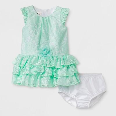 Baby Girls' Mia & Mimi A-Line Dress - Mint Green 6-9 M