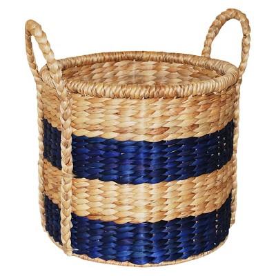 Decorative Basket Natural Brown/Blue 12  - Threshold™