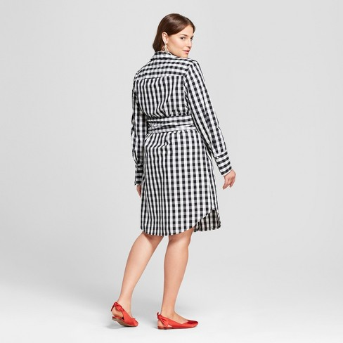 Women\'s Plus Size Long Sleeve Belted Shirtdress - Who What Wear ...