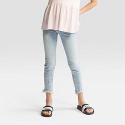Girls' Pearl Stud Denim Jeans - art class™ Light Denim Blue