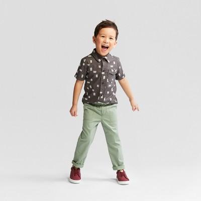 Toddler Boys' Top and Bottom Set - Cat & Jack™ Charcoal Print 18M