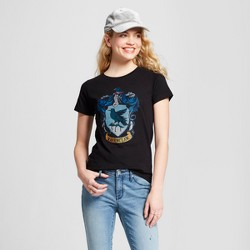 Women's Harry Potter® Ravenclaw Crest Short Sleeve T-Shirt (Juniors') - Black