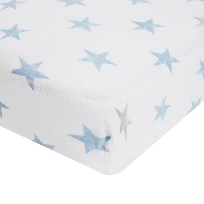 Aden® by Aden + Anais® Crib Sheet - Dapper - Light Blue