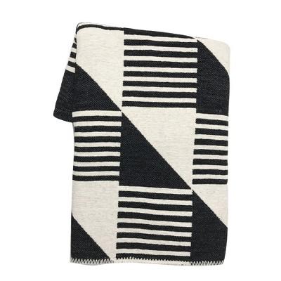 Black Geo Chenille Throw Blanket - Project 62™