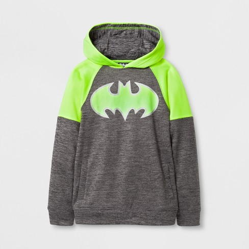 Boys' DC Comics Batman Activewear Long Sleeve Hoodie - Gray - image 1 of 1