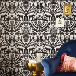 Eulalia Peel & Stick Removable Wallpaper Stucco/Black - Opalhouse™