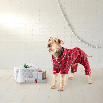 view Plaid Family Holiday Dog Pajamas - Wondershop on target.com. Opens in a new tab.