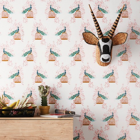 Peacock Peel Stick Removable Wallpaper