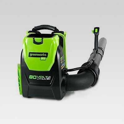 80V Pro Backpack Blower (Tool Only)- Electric Lime - GreenWorks