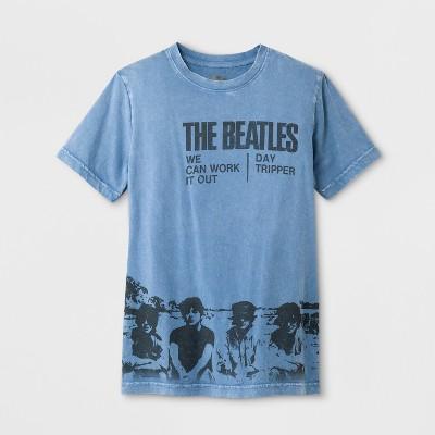 Boys' Short Sleeve Beatles Graphic T Shirt   Art Class™ Blue by The Beatles