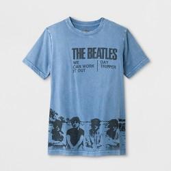 Boys' Short Sleeve Beatles Graphic T-Shirt - Art Class™ Blue