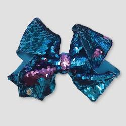 Girls' Nickelodeon JoJo Siwa Reversible Sequence Bow Hair Clip - Blue/Purple