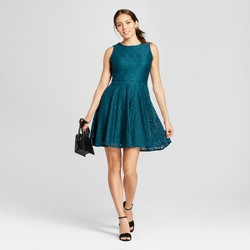Women's Lace Fit and Flare Tank Dress - Melonie T Green
