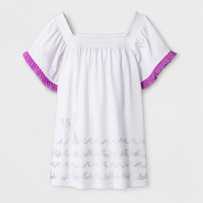 Girls' Short Sleeve Knit Top - Cat & Jack™ White M