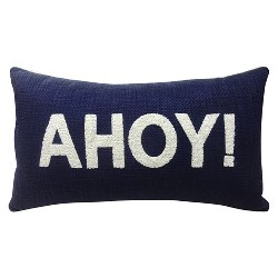 "Ahoy! Throw Pillow Blue 27""x15"" - Threshold™"