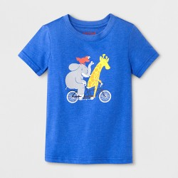 Toddler Boys' Elephant Short Sleeve T-Shirt - Cat & Jack™ Blue