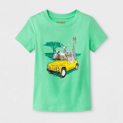 Toddler Boys' Animal Safari Short Sleeve T-Shirt - Cat & Jack™ Light Green