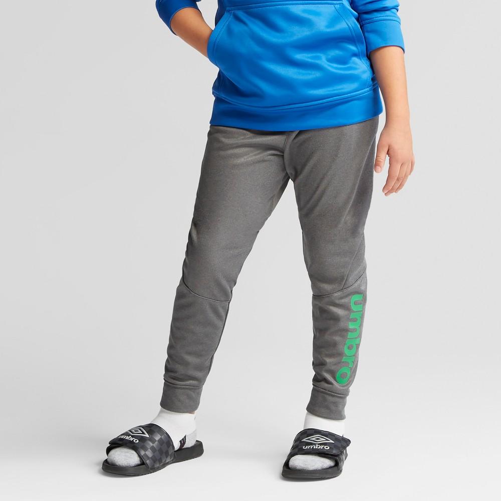 Umbro Boys' Tech Fleece Jogger Pants - Charcoal Gray Heather S