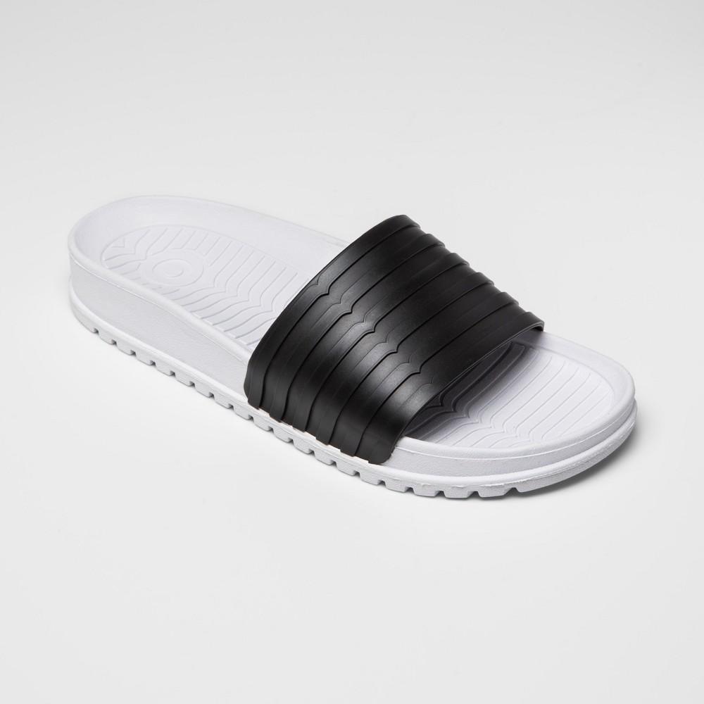 Hunter for Target Women's Slide Sandals – Black/White 8 thumbnail