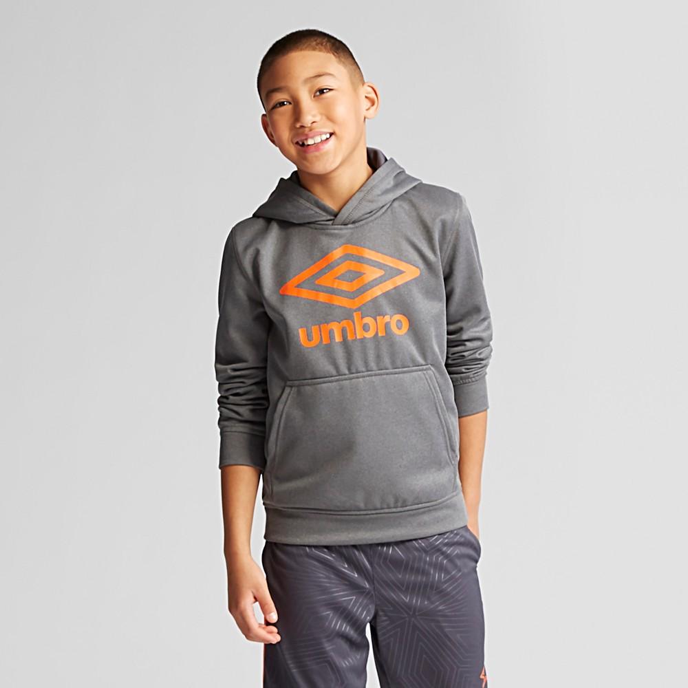 Umbro Boys' Fleece Logo Pullover Hoodie - Dark Heather XL