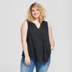 Women's Plus Size Split Neck Tank - Universal Thread™