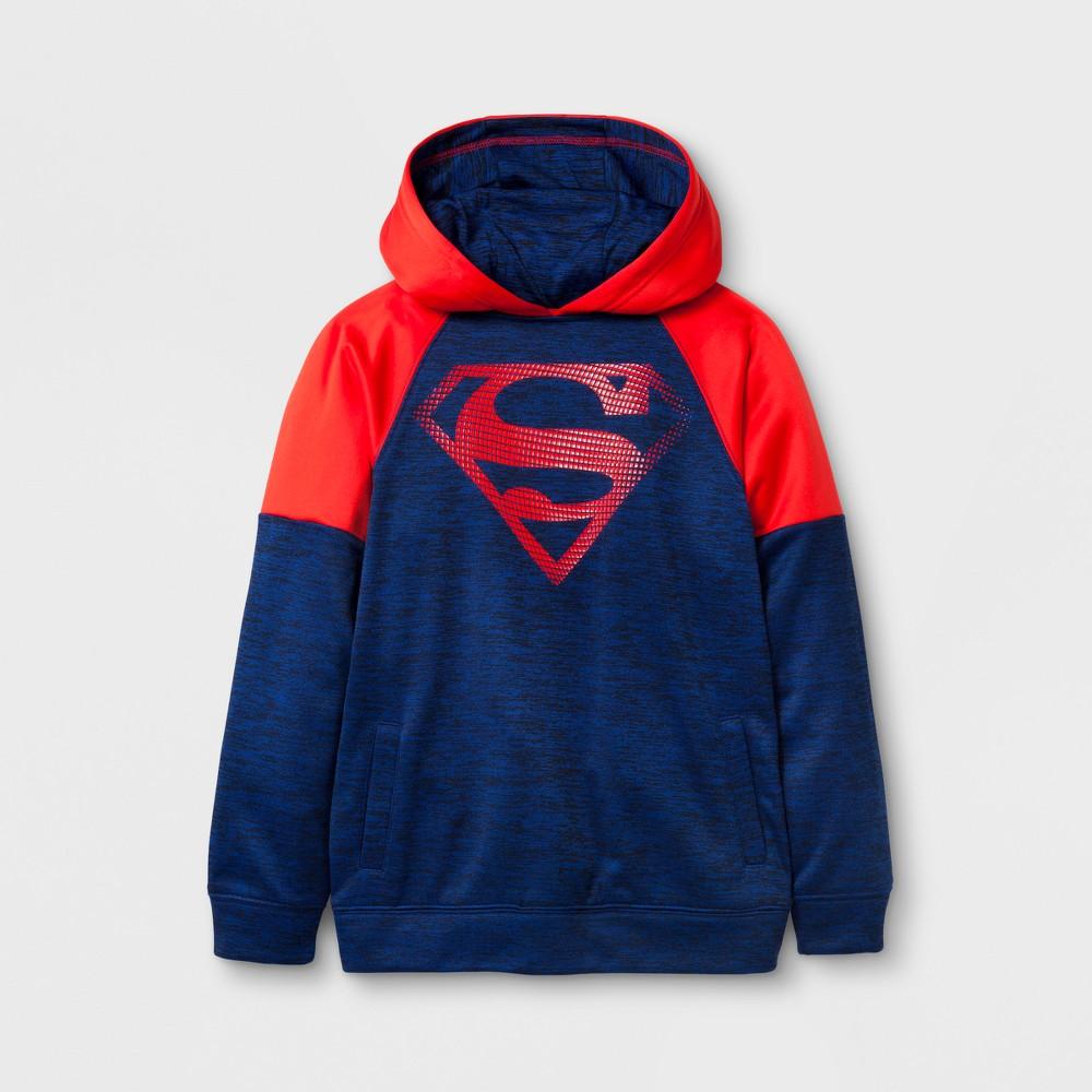 Boys' DC Comics Superman Activewear Long Sleeve Hoodie - Blue L