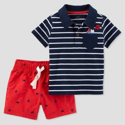 Toddler Boys' 2pc Nautical Shorts Set - Just One You™ Made by Carter's® Navy
