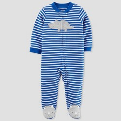 Baby Boys' Stripe Sleep N' Play - Just One You™ Made by Carter's® Blue/White