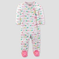 Baby Girls' Dinosaur Sleep N' Play - Just One You™ Made by Carter's® White/Pink