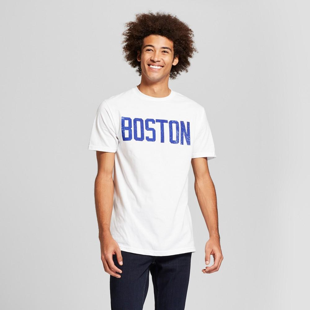 Men's Boston Short Sleeve Crew Neck T-Shirt - Awake - White Xxl