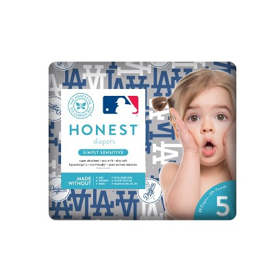Honest Company Diapers, Los Angeles Dodgers - Size 5 (25ct)