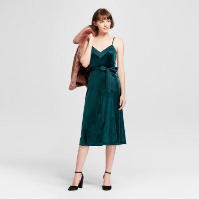 Green nylon pinafore dress plus