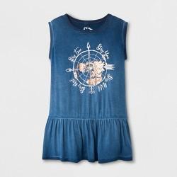 Girls' Peplum Graphic Tank Top - art class™ Blue