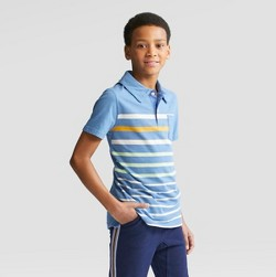 Boys' Short Sleeve Slub Jersey Polo Shirt - Cat & Jack™ Blue