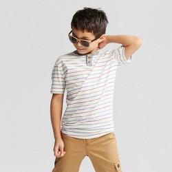 Boys' Short Sleeve Henley T-Shirt - Cat & Jack™ Eco White