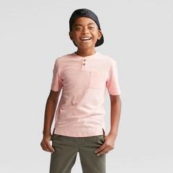 Boys' Short Sleeve Henley T-Shirt - Cat & Jack™ Orange