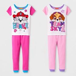 Toddler Girls' PAW Patrol Team Skye 4pc Cotton Pajama Set - Pink