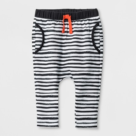 Baby Boys' Stripe Joggers with Critter on the Bottom - Cat & JackWhite