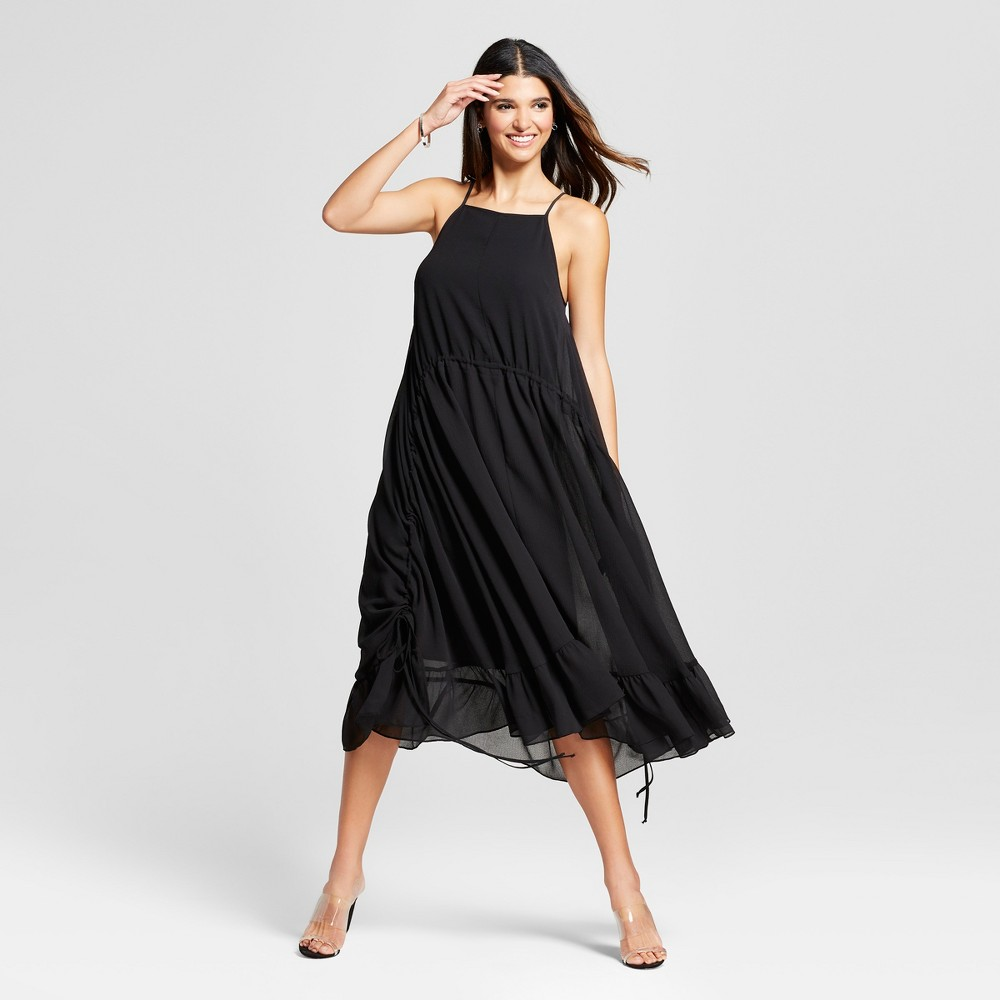 Women's Side Tie Slip Dress Mossimo Black M