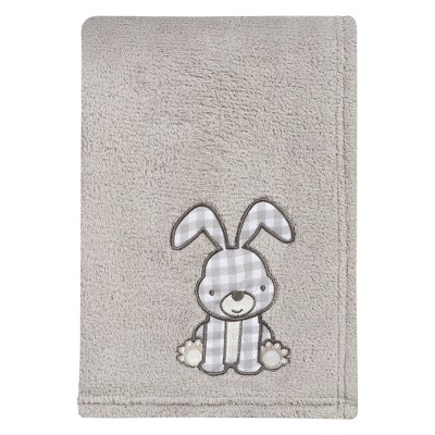 Trend Lab® Plush Baby Blanket - Gray Bunny