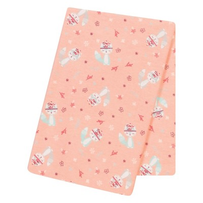 Trend Lab® Jumbo Deluxe Flannel Swaddle Blanket - Fox and Flowers