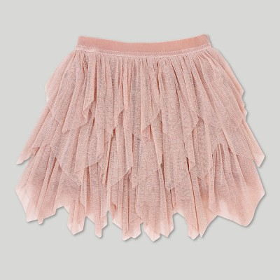 Toddler Girls' Afton Street Lurex Mesh Fairy Tutu Skirt - Pale Blush 18 Months