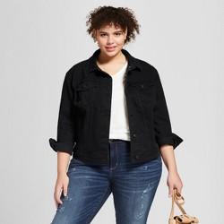 Women's Plus Size Denim Jacket - Universal Thread™ Black Wash